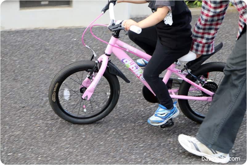 補助輪無し自転車の練習