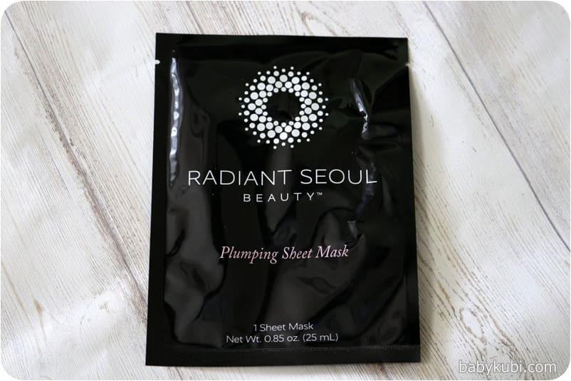 Radiant Seoul, プランピングシートマスク、シートマスク1枚